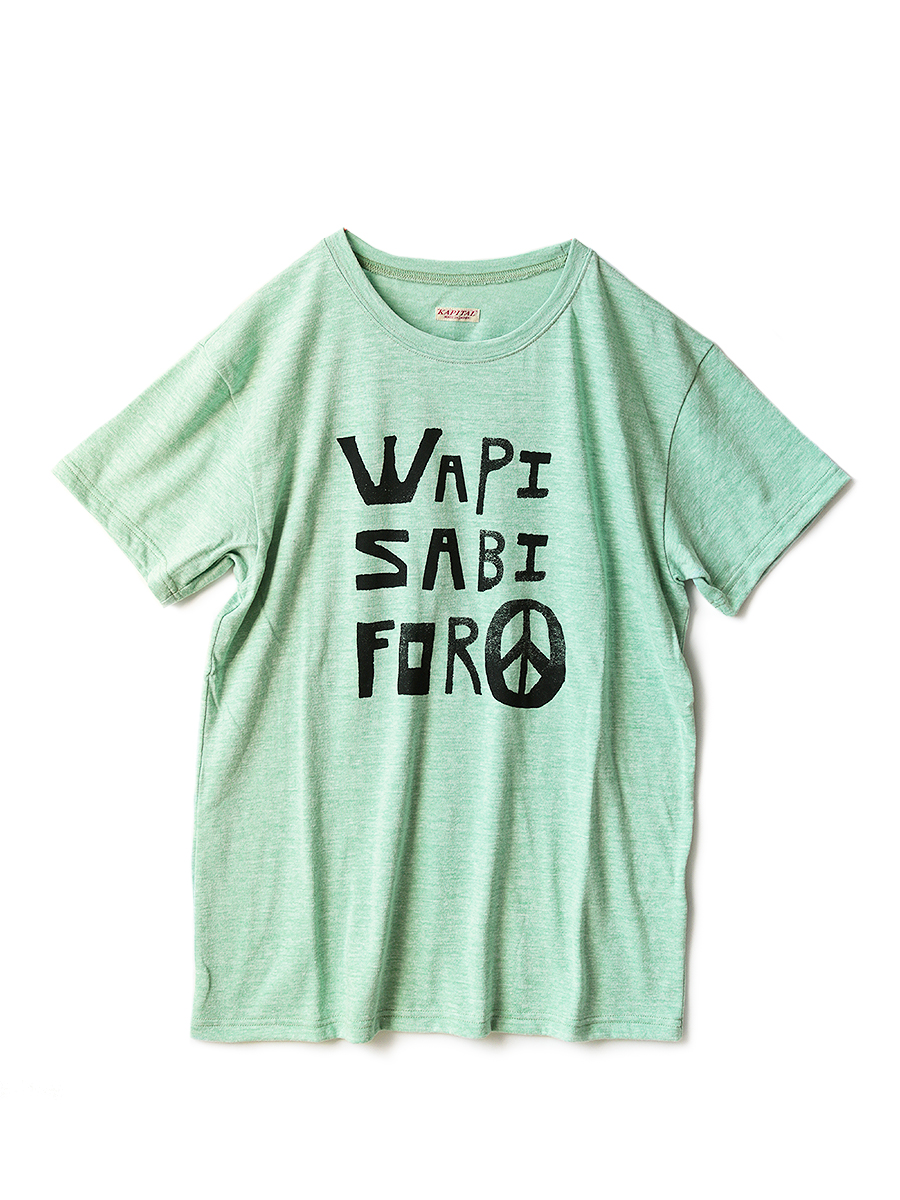 TOP杢天竺 クルーT(WAPI SABI FOR PEACEpt)